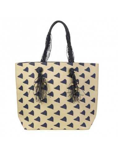 BECO - Strandtaske med kvaster og perler